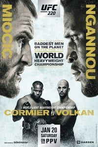 Nonton Film UFC 220: Miocic vs. Ngannou (2018) Subtitle Indonesia Streaming Movie Download