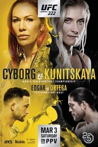 Nonton Film UFC 222: Cyborg vs. Kunitskaya (2018) Subtitle Indonesia Streaming Movie Download